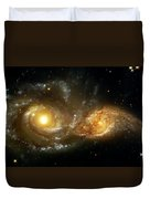 Two Spiral Galaxies Duvet Cover by The  Vault - Jennifer Rondinelli Reilly