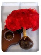 Ukulele and UliUli Duvet Cover by Mary Deal