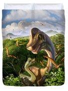Ultrasaurus Duvet Cover by Jerry LoFaro