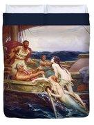 Ulysses And The Sirens Duvet Cover by Herbert James Draper