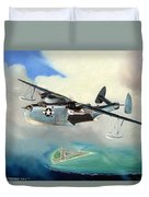 Uncle Bubba's Flying Boat Duvet Cover by Marc Stewart