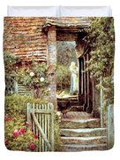 Under the Old Malthouse Hambledon Surrey Duvet Cover by Helen Allingham