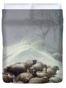 Under The Shelter Of The Shapeless Drift Duvet Cover by Thomas Sidney Cooper