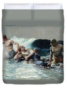 Undertow Duvet Cover by Winslow Homer