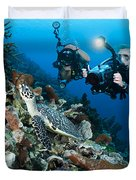 Underwater Photography Duvet Cover by Dave Fleetham - Printscapes