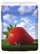 Unexpected Growth Duvet Cover by Jerry LoFaro