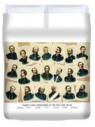 Union Commanders of The Civil War Duvet Cover by War Is Hell Store