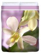 Unique White Orchid Duvet Cover by Mike McGlothlen