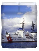 United States Coast Guard Cutter Rush Duvet Cover by Michael Wood