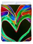 Universal Sign For Love Duvet Cover by Eloise Schneider
