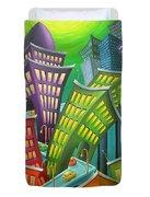 Urban Vertigo Duvet Cover by Eva Folks
