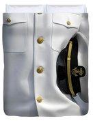 U.s. Naval Academy Midshipman In Dress Duvet Cover by Stocktrek Images