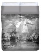 U.s. Naval Ships At The Brooklyn Navy Yard Duvet Cover by War Is Hell Store