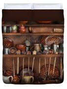 Utensils - What I Found In A Cabinet Duvet Cover by Mike Savad