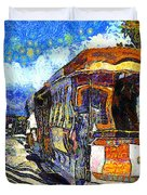 Van Gogh Vacations In San Francisco 7d14099 Duvet Cover by Wingsdomain Art and Photography