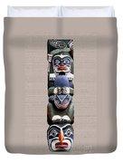 Vancouver Totem - 2 Duvet Cover by Linda  Parker