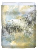 Vanishing Seagull Duvet Cover by Melanie Viola
