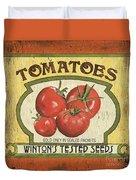 Veggie Seed Pack 3 Duvet Cover by Debbie DeWitt