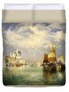 Venetian Grand Canal Duvet Cover by Thomas Moran
