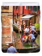 Venetian Red Duvet Cover by Jeff Kolker