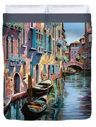 Venezia In Rosa Duvet Cover by Guido Borelli