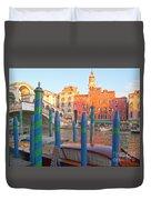 Venice Rialto Bridge Duvet Cover by Heiko Koehrer-Wagner