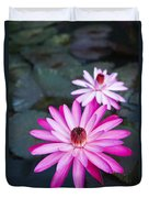Vibrant Waterlilies Duvet Cover by Dana Edmunds - Printscapes