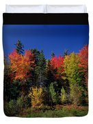 View In The Appalachian Mountains Duvet Cover by View in the Appalachian Mountains