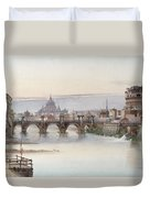 View Of Rome Duvet Cover by I Martin