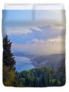 View Of Sicily Duvet Cover by Madeline Ellis