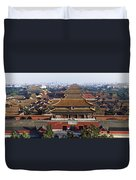 View Of The Forbidden City At Dusk From Duvet Cover by Axiom Photographic