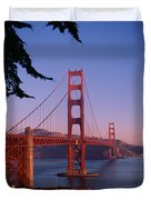 View Of The Golden Gate Bridge Duvet Cover by American School