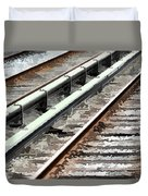 View of the railway track  Duvet Cover by Lanjee Chee