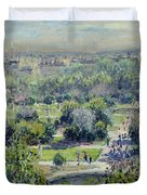 View of the Tuileries Gardens Duvet Cover by Claude Monet
