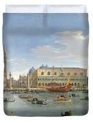 View Of Venice From The Island Of San Giorgio Duvet Cover by Gaspar van Wittel