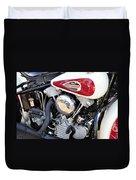 Vintage Harley V Twin Duvet Cover by David Lee Thompson