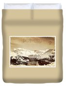 Vintage Style Post Card From Loveland Pass Duvet Cover by Juli Scalzi