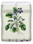 Violets Duvet Cover by English School
