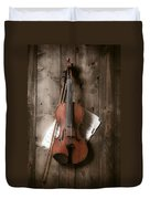 Violin Duvet Cover by Garry Gay