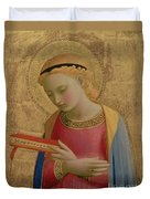 Virgin Annunciate Duvet Cover by Fra Angelico
