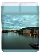 Vltava View 2 Duvet Cover by Madeline Ellis