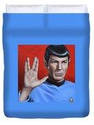 Vulcan Farewell Duvet Cover by Kim Lockman