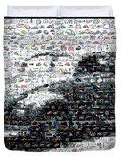 Vw Bug Volkswagen Mosaic Duvet Cover by Paul Van Scott