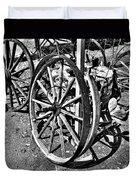 Wagon Wheel Graveyard Duvet Cover by Douglas Barnard