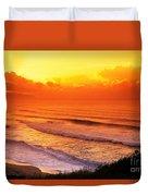 Waimea Bay Sunset Duvet Cover by Vince Cavataio - Printscapes