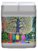 Waiting For The Bus Duvet Cover by Nick Gustafson