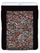 Wall Of Chewing Gum Seattle Duvet Cover by Garry Gay