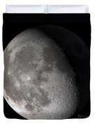 Waning Gibbous Moon Duvet Cover by Stocktrek Images