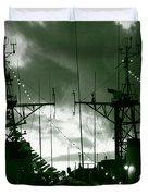 Warships At Twilight Duvet Cover by Gaspar Avila