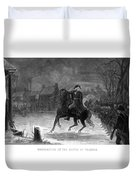 Washington At The Battle Of Trenton Duvet Cover by War Is Hell Store